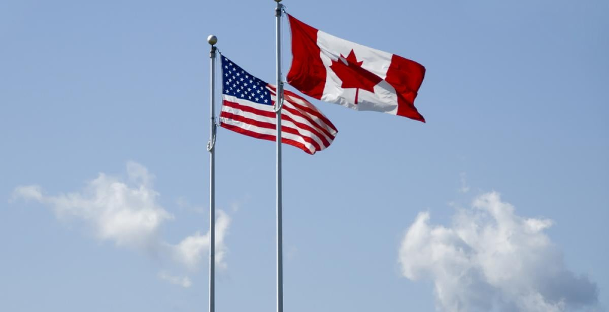 US and Canadian flag